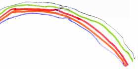Un arco iris (dibujo de un niño)
