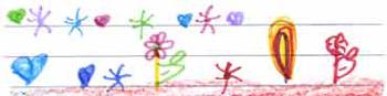 Detalle de un dibujo de una niña