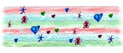 Collage de detalles del dibujo de un niño