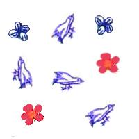 Pajaritos y Flores