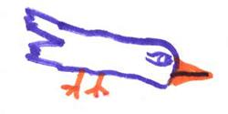 Detalle del dibujo de un niño